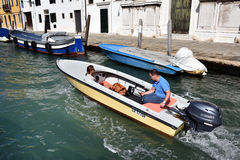 Venice water boat Royalty Free Stock Photos