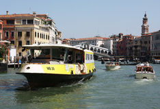 Venice water bus Royalty Free Stock Image