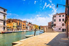 Venice water canal in Cannaregio. Italy Stock Images