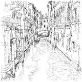 Venice - water canal, old buildings Stock Photo
