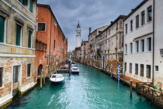 Venice water channel in Italy Stock Photography