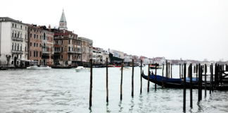 Venice water front Royalty Free Stock Photography