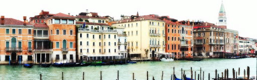 Venice water panorama Royalty Free Stock Photography