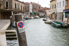 Venice - water path Stock Image