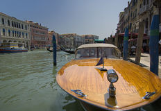 Venice Water Taxi. Water Taxi on the Grand Canal in Venice, Italy royalty free stock photography