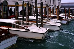 Venice water taxi stock image