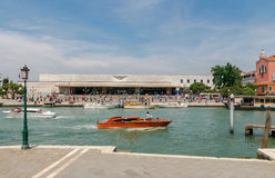 Venice. Water Taxi at Ferrovia. Stock Image