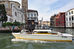 Venice water taxi Stock Photos