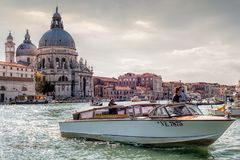 Venice water taxi Stock Photo