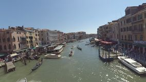 Venice water traffic Timelapse stock video