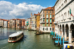 Venice water transport Royalty Free Stock Images
