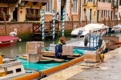 Venice. Water transport. Royalty Free Stock Photography