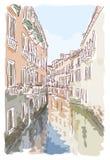 Venice. Watercolor style. Stock Photos