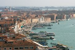 Venice Waterfront. Elevated view of the Venetian Waterfront, Italy Royalty Free Stock Photography