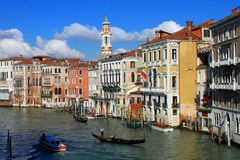 Venice waterfront buildings stock photo