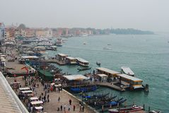 Venice waterfront. Royalty Free Stock Images
