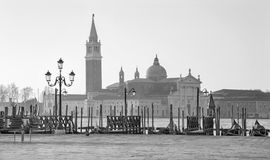 Venice - Waterfront of Saint Mark square and San Giorgio Maggiore church in background Royalty Free Stock Image