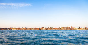 Venice waterfront from Zattere Stock Photography