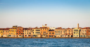 Venice waterfront from Zattere Royalty Free Stock Images