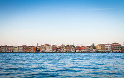 Venice waterfront from Zattere Stock Images