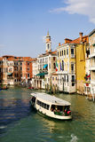 Venice waterway. Large waterway in Venice, Italy Stock Image