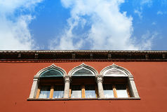 Venice - Window and sky. Venice - Window in ancient building and blue sky Stock Photography