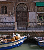 Venice, wine transport Royalty Free Stock Photo