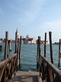 Venice - wooden pier Royalty Free Stock Image