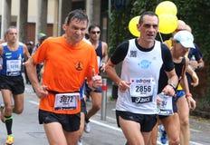 28. Venicemarathon: die Amateurseite Stockbilder