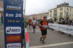 28. Venicemarathon: die Amateurseite Stockfotos