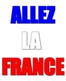 Venido en la muestra de Francia llamó el la Francia del allez en lengua francesa ilustración del vector