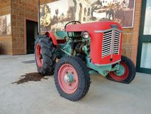 Venieri Tractor. Benevento, Campania, Italy - April 12, 2017: Tractor Venieri HP 28 on display at Musa, the museum`s pole of technique and work in agriculture Royalty Free Stock Photography