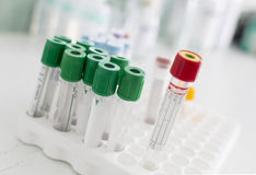 Venipuncture test tubes Stock Photography