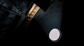 Venir léger par le plafond du Panthéon Photographie stock libre de droits