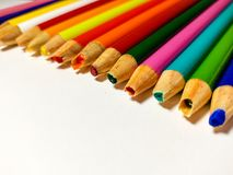 Venire a mancare colorato del temperamatite immagini stock libere da diritti