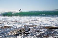 Venire a mancare praticante il surfing Immagini Stock