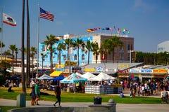 Venise海滩,圣塔蒙尼卡,加利福尼亚 免版税图库摄影
