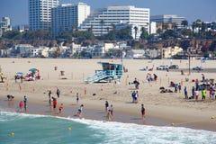Venise海滩,圣塔蒙尼卡,加利福尼亚 免版税库存照片