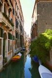 Venise运河,意大利 库存图片