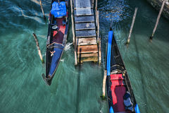 Venise avec des gondoles en Italie Image stock