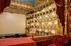 VENISE - 7 AVRIL 2014 : Intérieur de théâtre de Fenice de La La de Teatro Images stock