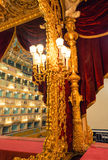 VENISE - 7 AVRIL 2014 : Intérieur de théâtre de Fenice de La La de Teatro Image stock