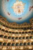 VENISE - 7 AVRIL 2014 : Intérieur de théâtre de Fenice de La La de Teatro Image libre de droits