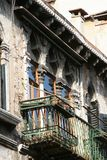 Venise, balcon d'un palais antique, détail photographie stock