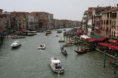 Venise, canal grand photos stock