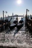Venise, canal grand avec des gondoles Photo stock