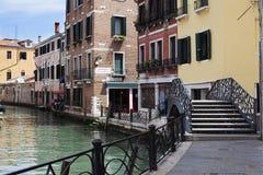 Venise, canal, Vénétie, Italie, Imagem de Stock Royalty Free