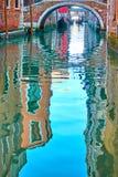 Venise dans des réflexions de l'eau images libres de droits