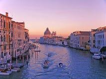 Venise dans le coucher du soleil Photos libres de droits