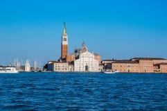 Venise, Italie : Église San Giorgio Maggiore vu de Grand Canal photo libre de droits